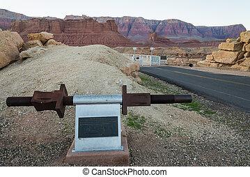 Historic toggle Screw for the Navajo Bridge in Arizona USA