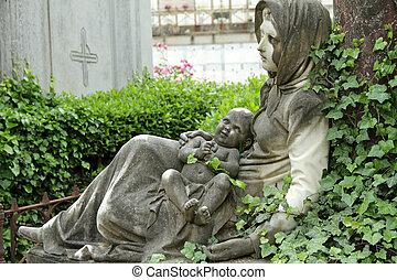 historic tomb - Cemetery delle Porte Sante in Florence,...