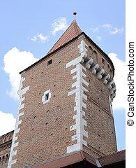 Historic tower in Krakow