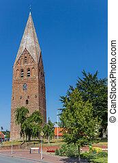 Historic tower Juffertoren in Schildwolde