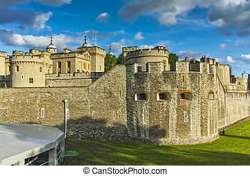 Historic Tower of London, England