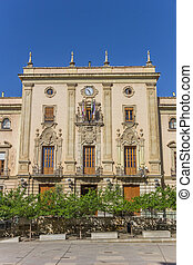 Historic town hall at the cathedral square of Jaen