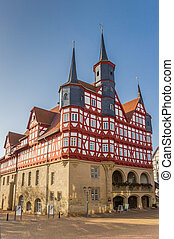 Historic town hall at the maket square in Duderstadt