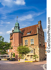 Historic town hall building on the market square of Meppen