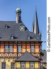 Historic town hall in the center of Wernigerode
