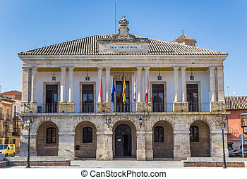 Historic town hall on the main square of Toro