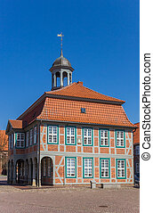 Historic town hall on the market square of Boizenburg
