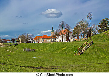 Historic Town of Koprivnica colorful view