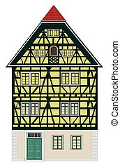 Medieval building with many elaborate details from Europe.