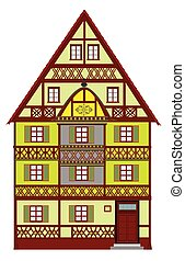 Medieval building from Europe with many elaborate details.