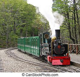 Historic train at Tierra del fuego, Argentina