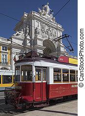 Historic Tram - Lisbon - Portugal - Lisbon - Portugal. Hills...