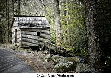 Tub Mill, Roaring Fork - Historic Tub Mill, Roaring Fork,...