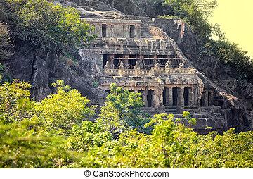 Historic Undavalli caves in India