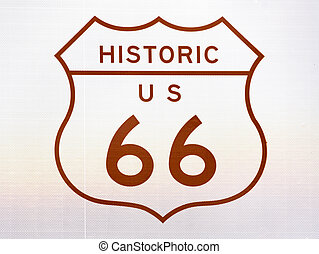 Historic US 66 Sign