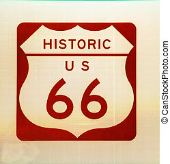 Historic US Route 66 sign