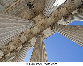 Historic US Supreme Court Building Columns
