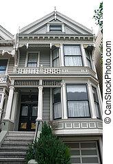 Historic Victorian Home in San Francisco California USA