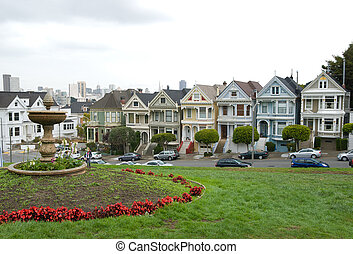 Historic Victorian Homes in San Francisco California