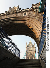 Historic Victorian Tower Bridge in London England
