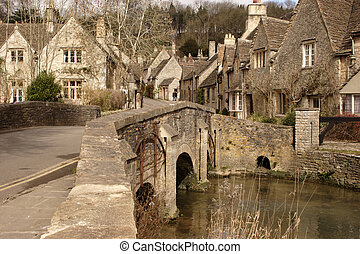 taken in Castle Coombe, the most picturesque village in England, Wiltshire