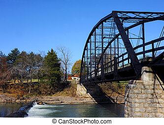 Historic War Eagle Mills Bridge in Arkansas - Historic War ...