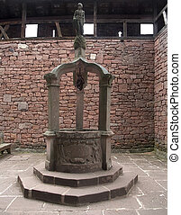 historic well at Haut-Koenigsbourg Castle
