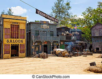 wild west town style - Historic wild west town style