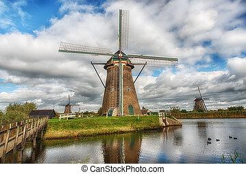 Historic windmill at Kinderdijk
