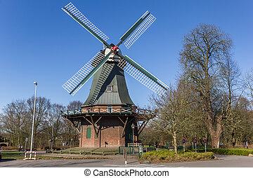 Historic windmill in the center of Wilhelmshaven