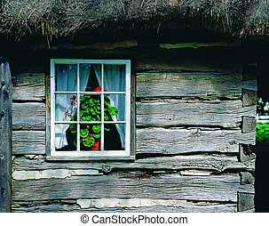 Historic wooden cabin