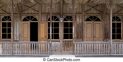 historic wooden house detail