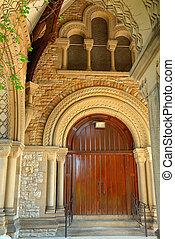Historical 1800s Church Doorway