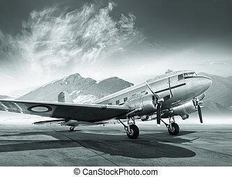 aircraft - historical aircraft on a airfield