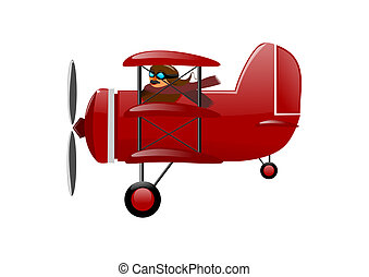 Historical airplane - red triplane