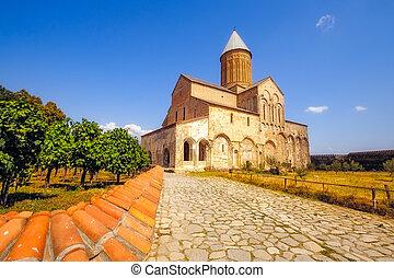 Historical Alaverdi monastery in Kakheti region, Georgia