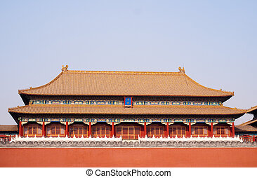 Great historical chinese archetecture in the forbidden city