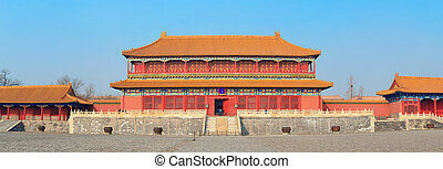 Forbidden City - Historical architecture panorama in ...