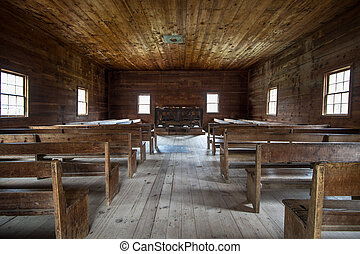 Historical Baptist Church - Interior of the historical Cades...