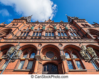 Historical building in the city Rostock, Germany