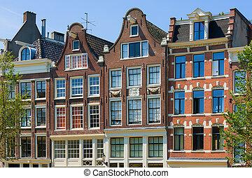 Historical buildings in Amsterdam