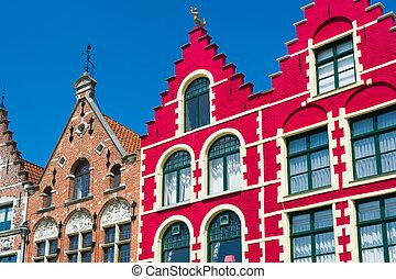 Historical buildings in Bruges