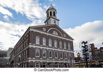Historical buildings in the city of Boston, Massachusetts USA