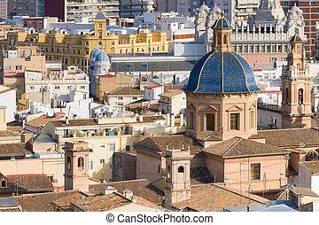 Historical buildings in Valencia