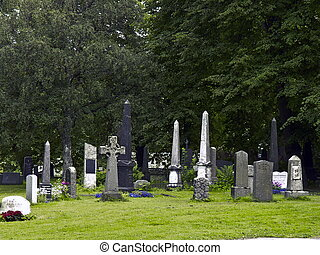 Historical Cemetery - Historical stone Norwegian Cemetery in...