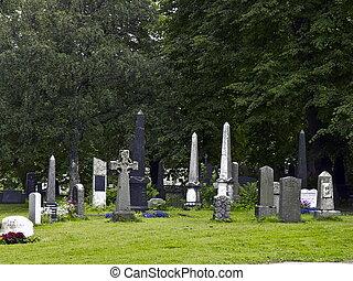 Historical Cemetery - Historical stone Norwegian Cemetery in...