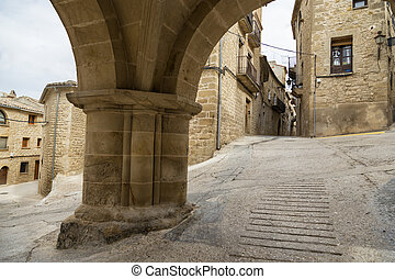 Historical center of Calaceite, Spain