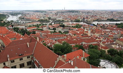 Historical center of Prague (View from the tower of Saint...