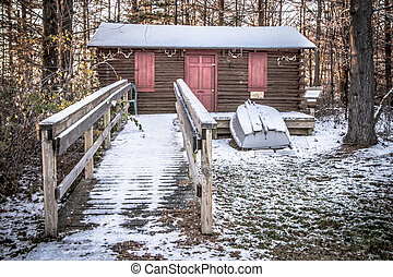 Historical Deer Hunting Camp - Historical hunting cabin in...