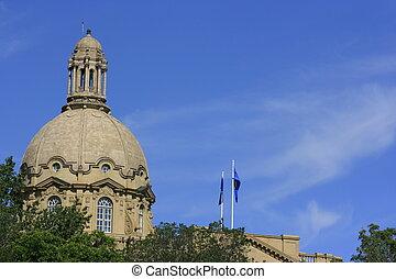 Historical dome on top of Alberta Legislature.